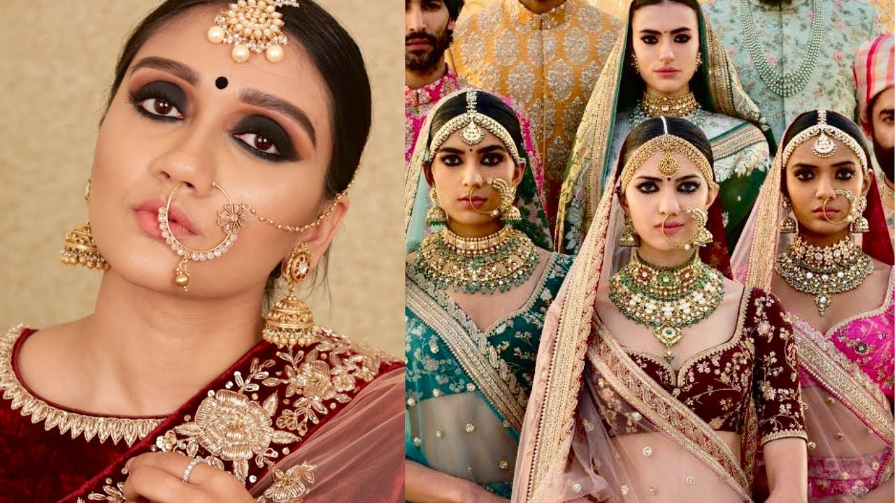 sabyasachi inspired bridal makeup tutorial | the big fat indian wedding series