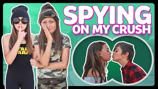 SPYING On My CRUSH for 24 HOURS Challenge in PUBLIC GONE WRONG Sophie Fergi