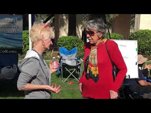 Oma converting Atheists in Balboa Park