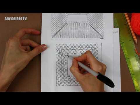 Схема вязания кокетки крючком квадратной