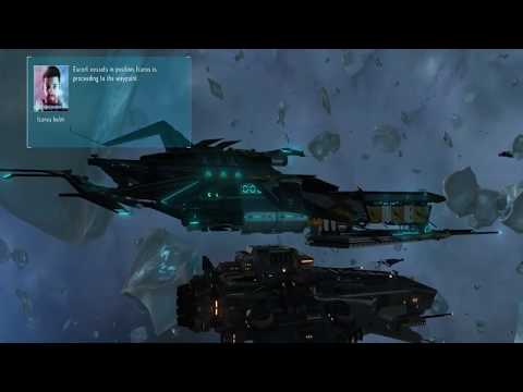 Starpoint Gemini Warlords Intro and tutorial battle |