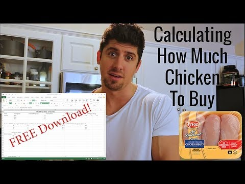 Calculate How Much Chicken You Need To Buy For Meal Prepping - FREE Excel Download
