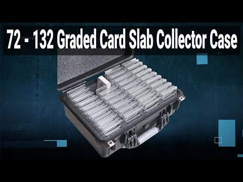 72-132 Graded Card Slab Collector Case - Video