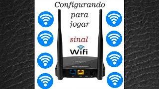 Configurando Intelbras WRN 300 para transmitir sinal