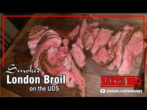 Smoked London Broil On The UDS