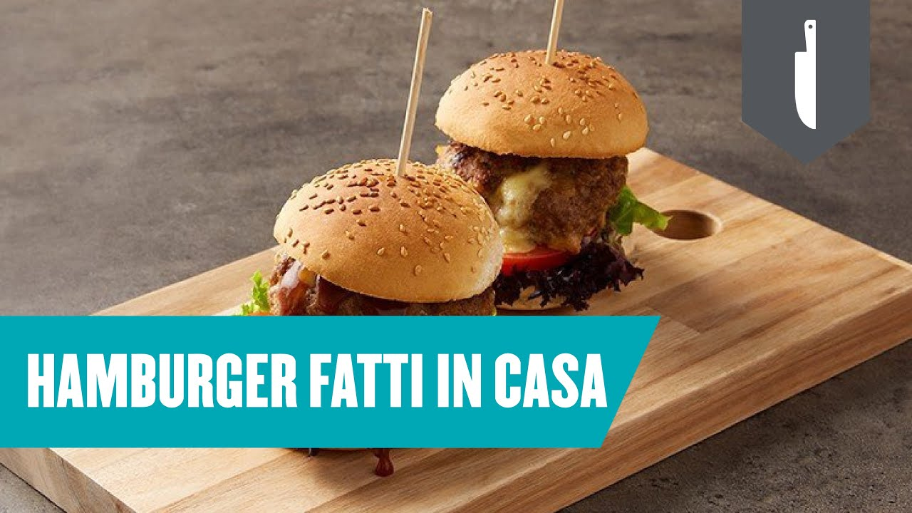 Youtube Ricetta Hamburger.Hamburger Fatti In Casa Ricetta Facile E Veloce Youtube