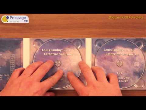 PRESSAGE.EU - Conditionnement : Digipack CD 3 volets