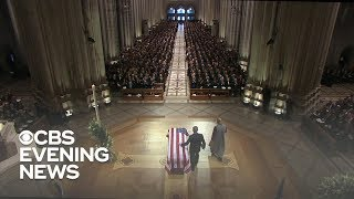 Nation bids farewell to George H.W. Bush with emotional state funeral
