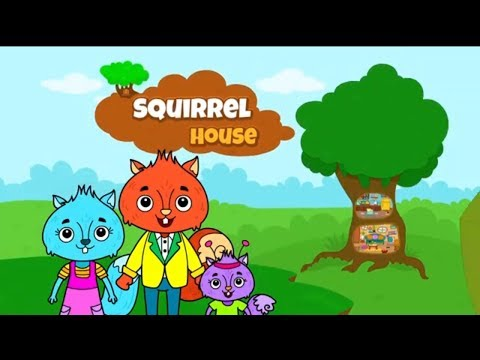 Animal Town: Squirrel House Game🐿️ | Cartoon Games For Kids | Animated Cartoons For Children