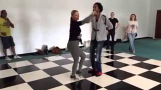 Sam Mr Sleek & Angelique IMPROVERS level salsa  class Londo
