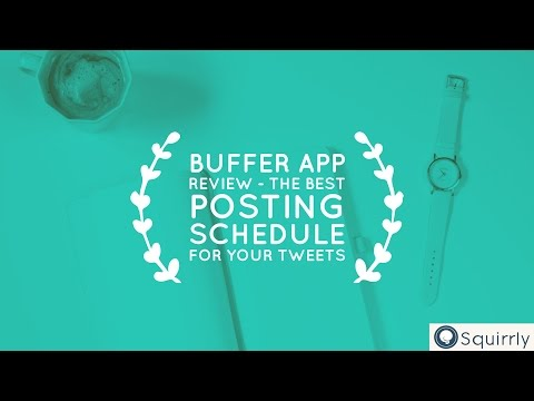 Buffer App Review - The Best Posting Schedule for Your Tweets - GetGrowth E14