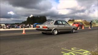 Audi 80 Turbo Quattro 1on1 Bitburg 1/4 Meile 9,85@239Km/h