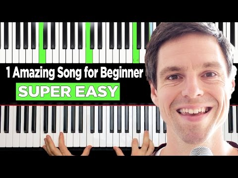 How to play piano 1 EASY & FUN Song for beginners in 10 min