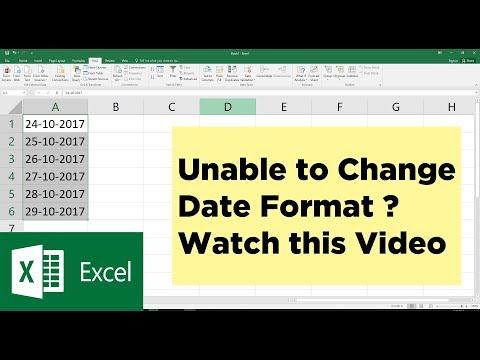 Ms excel convert date format