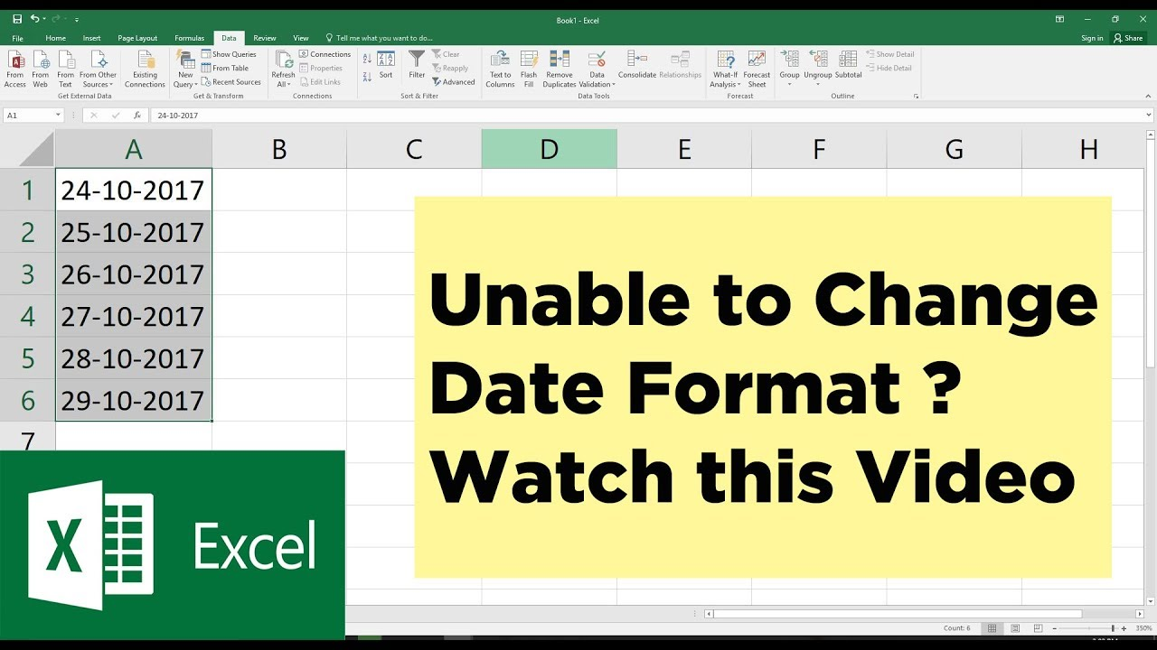 Unable to Change Date Format in Excel ? You need to watch this | Microsoft  Excel Tutorial