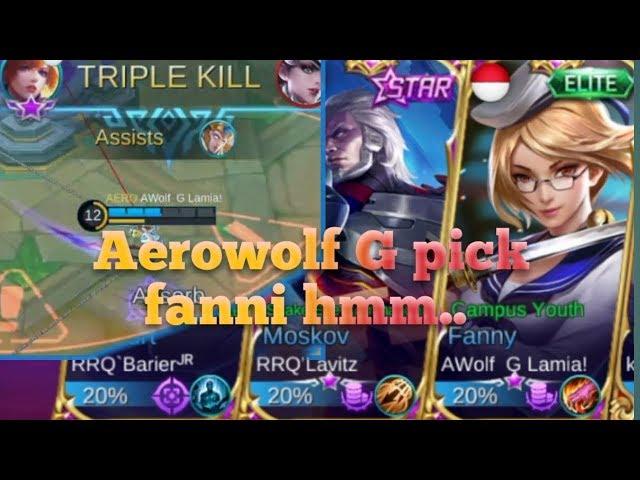 BEGINILAH AEROWOLF G main  FANNY (MABAR with RRQ BARIER DAN RRQ LAVITZ)