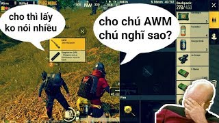 PUBG Mobile - Cảm Xúc Của Đồng Đội Khi Được Tặng AWM + 2 Hòm Thính | Không Cảm Xúc Của Hồ Quang Hiếu