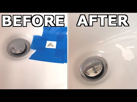 how to fix chipped porcelain ceramic sink or bath tub with milliput epoxy putty
