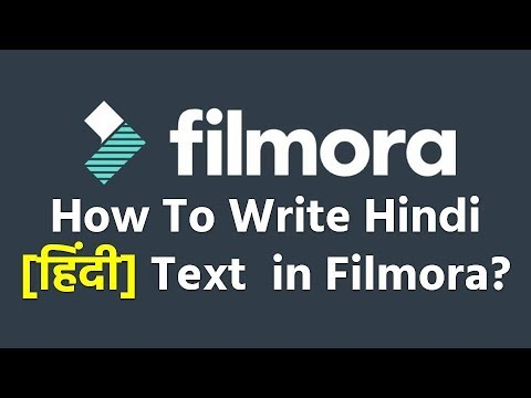 How To Write Hindi Text in Filmora? (100% Working)