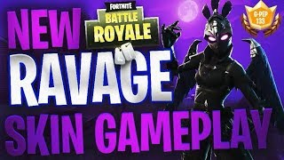 *NEW* RAVAGE SKIN GAMEPLAY - FORTNITE BATTLE ROYALE - 15 KILL #1 VICTORY ROYALE