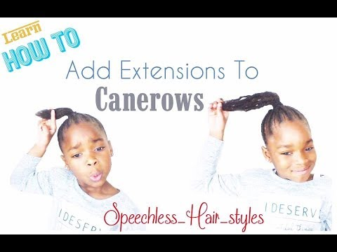 how-to-add-extensions-to-cornrow!-natural-look