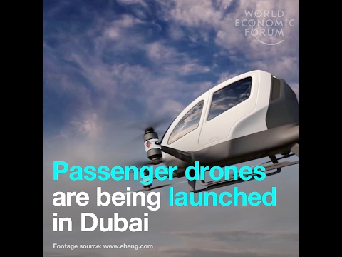 Passenger drones are being launched in Dubai