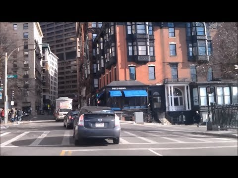 Driving Downtown - Boston Massachusetts