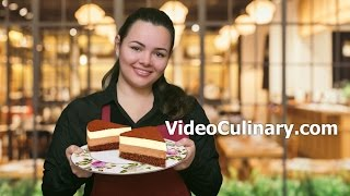 Chocolate Mousse Cake Recipe - White & Dark - Video Culinary