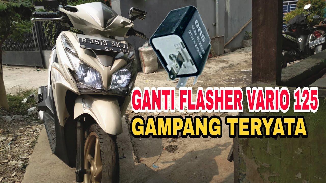 Repeat VARIO 125 || GANTI FLASHER SIMPLE BANGET || LED