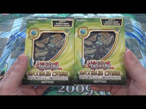 Yugioh Maximum Crisis Special Edition x2 Opening - 2 Special Editions