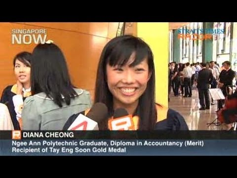 Ngee Ann Poly grad from ITE emerges top