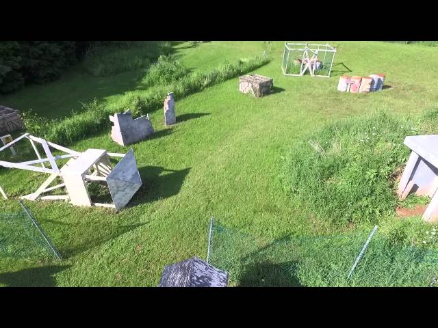 The Town Field Drone Flyover - Crossfire PEI Adventure Paintball