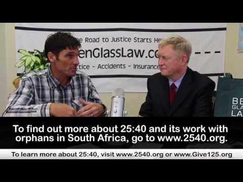How is 25:40 helping orphans in South Africa?