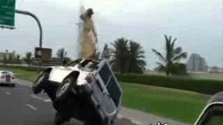 Car stunt in Dubai - Yo