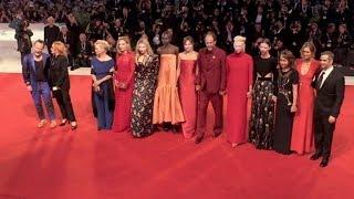 Mia Goth, Dakota Johnson, Tilda Swinton and more on the red carpet for the Premiere of Suspiria in V
