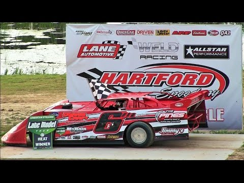 Late Model Heat 2 at Hartford Speedway on 7-8-16