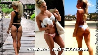 PERFECT BODY ANNA NYSTROM Gym Workout/Swedish fitness model/Personal trainer