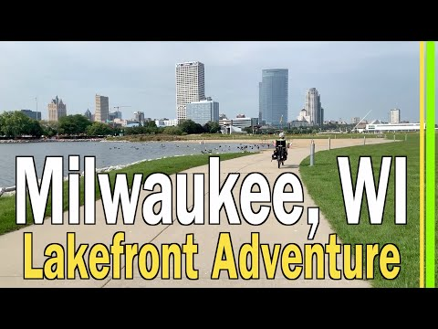 MILWAUKEE WI TOUR / WI STATE FAIR RV PARK TO LAKE MICHIGAN LAKEFRONT VIA HANK AARON BIKE TRAIL EP92