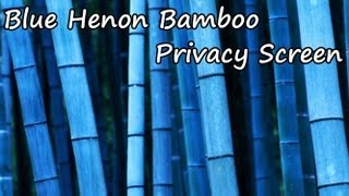 Blue Bamboo Plant Privacy Screen - Tv Ad
