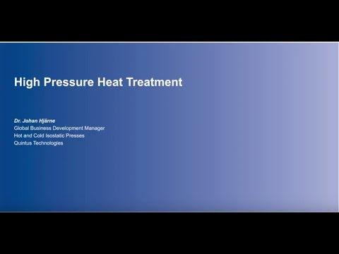 How High Pressure Heat Treatment Enables Additive Manufacturing