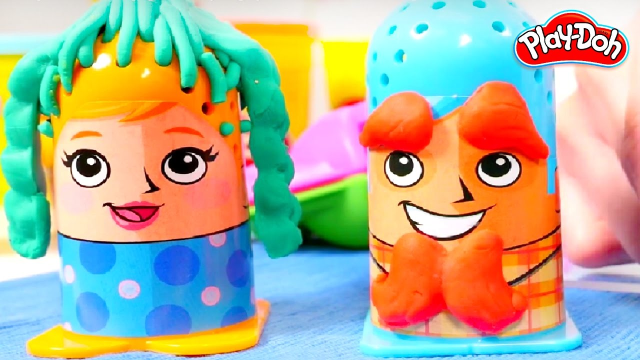 Play Doh Cuts Hair Designer Toys For Kids Youtube