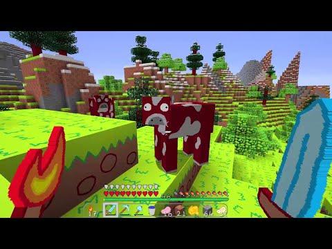 """จะเป็นอย่างไร? ถ้าเกิดมายคราฟกลายเป็น """"ภาพวาดการ์ตูน"""" โครตสวย!! (Minecraft การ์ตูน)"""