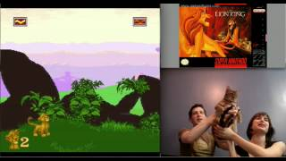 The Lion King (SNES) - Using my bengal cat as my own personal baby Simba.