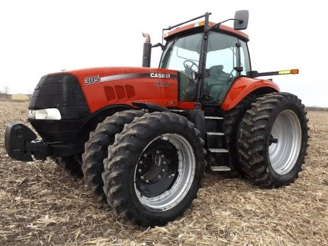 2007 CaseIH Magnum 305 Tractor with 3718 Hours Sold on Illinois Farm Auction Yesterday