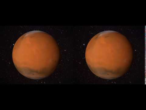 3D Mars with Phobos Orbiting - Visualisation Loop (S3D Freeview format)
