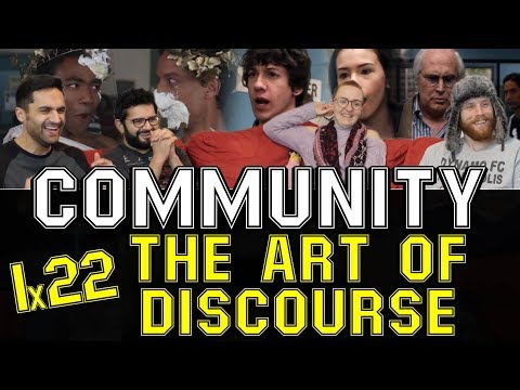 Community - 1x22 The Art of Discourse - Group Reaction