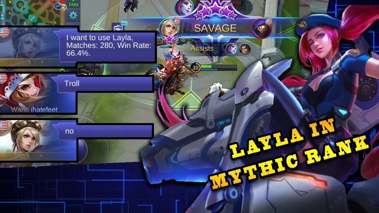 SAVAGE! Layla In Mythic Rank | Mobile Legends Bang Bang