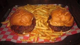 Tin Cup's Lucifer Juicy Lucy Burger Challenge (on Man V. Food Nation)