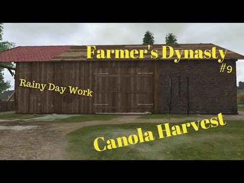 Farmers Dynasty #9   Rainy Day Work   Seeding   Canola  
