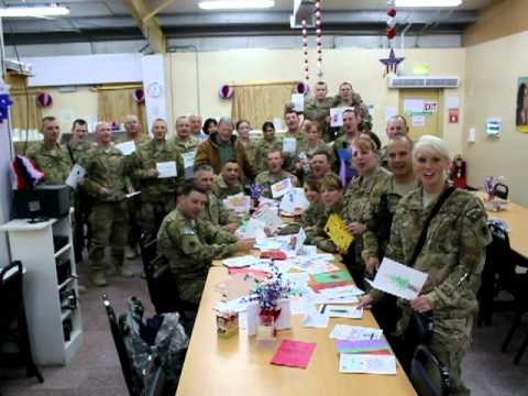 45th OK National Guard in Afghanistan wishes Grove Valley Elementary School a Happy New Year